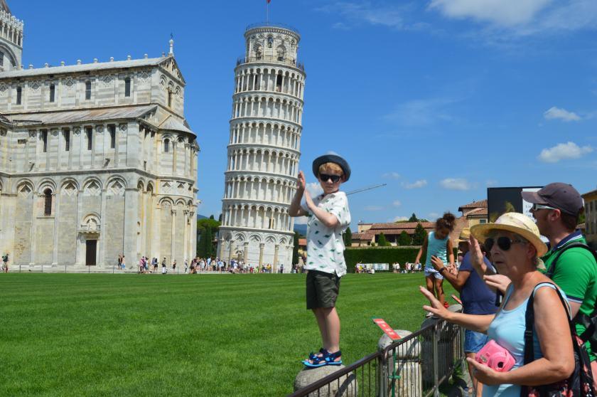Pisa posing