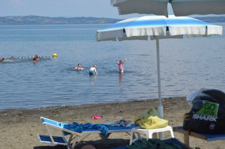 Swimming in the Lake Bracciano