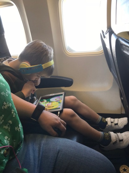 does he even know he's on a plane?