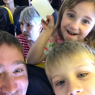 Kids enjoying the plane!