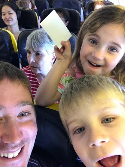 Kids enjoying the plane!
