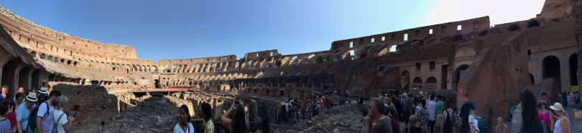 Stunning view inside the colosseum