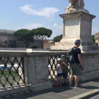 looking out over the River Tiber