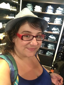 Trying on hats!
