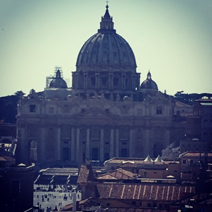 From the top of the Castle you can see for miles - and this is part of the spectacular view. Breathtaking St Peters Basilica!