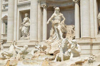 Trevi Fountain - Oceanus (Titan God of the Sea)