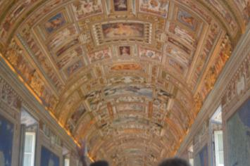 Ceilings in The Vatican Museum almost as exquisite as the Sistine Chapel